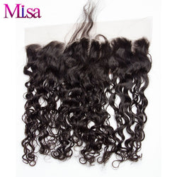 Mi Lisa Malaysian Water Wave 13''x4'' Lace Frontal Closure Remy Hair Free Shipping 100% Human Hair