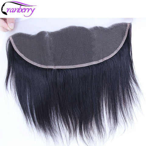 "Cranberry Hair Peruvian Straight Hair Frontal 13""x4"" Ear to Ear Lace Frontal Free Part Non-remy Human Hair Lace Closure Frontal"