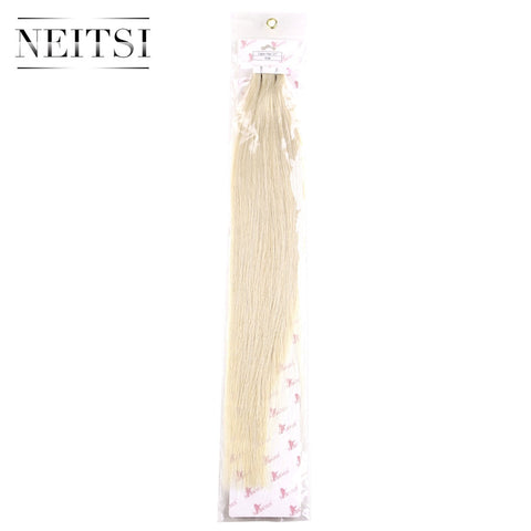 "Neitsi 20"" Mini Tape In Remy Human Hair 60# 2.0g/s 10pcs Brazilian Straight Virgin Remy Hair Extensions Skin Weft Hair Piece"