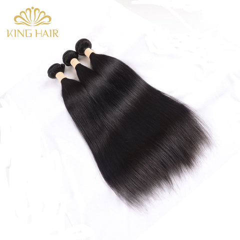 King Straight human hair 100% Malaysian Hair Weave Bundles Remy straight Hair Weft 1bundle no shed and tangle