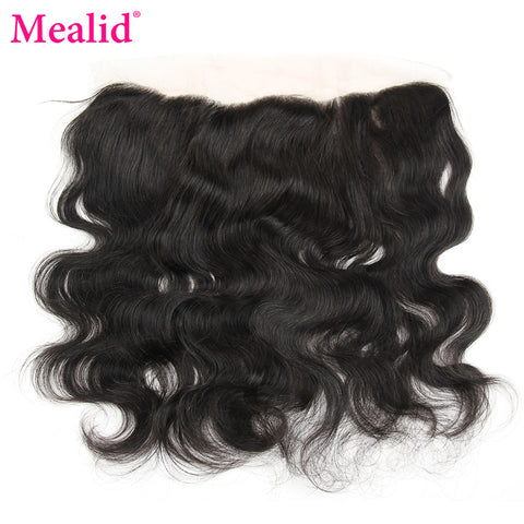 "[Mealid] Brazilian Body Wave Frontal Closure Non-remy Natural Color 8""-18"" Lace Frontal Free Shipping"