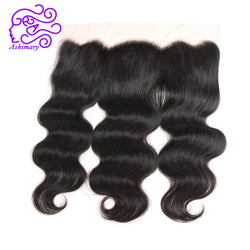 Ashimary Peruvian Body Wave 13*4 Lace Frontal Closure Can Be Bleached Remy Hair Ear to Ear Closure 100% Human Hair Free Shipping