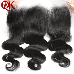 QueenKing Hair Brazilian Lace Frontal Closure Body Wave Remy Hair 13x4 Plucked Natural Hairline Bleached Knots Human Hair Pieces