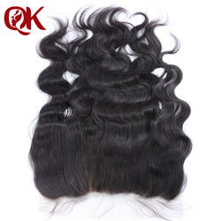 QueenKing Hair Brazilian Lace Frontal Closure Body Wave Remy Hair 13x6 Plucked Natural Hairline Bleached Knots Human Hair Pieces