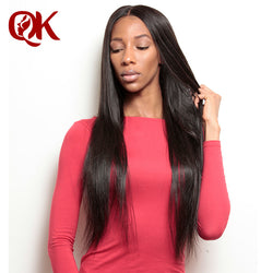 QueenKing Hair Peruvian Hair Silky Straight Nature Color Remy Hair 100% Human Hair Weave 10-24 Inch Free Shipping