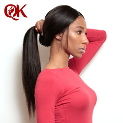 QueenKing Hair Product Brazilian Remy Hair SilkyStraight 360 Lace Frontal Closure Natural Hairline Bleached Knots With Baby Hair
