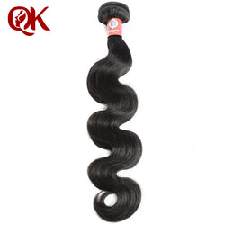 QueenKing Hair Peruvian Body Wave Remy Hair Bundles 10-24 Inches Natural Color 100% Human Hair Weaving Free Shipping