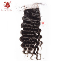[FYNHA] Brazilian Virgin Hair Lace Closure Loose Wave 100% Human Hair Free Part 4''x 4'' Free Shipping