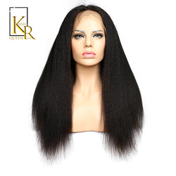 King Rosa Queen Glueless Brazilian Kinky Straight Full Lace Wigs Italian Yaki African American Thick Full Lace Human Hair Wigs