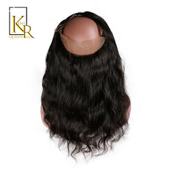 King Rosa Queen Body Wave 360 Lace Frontal Closure Pre Plucked Natural Hairline With Baby Hair Natural Color 100% Human Hair