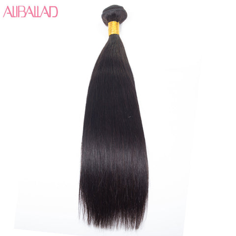 Aliballad Brazilian Straight Hair Non-Remy Hair Bundle 8-28 Inch Natural Color Human Hair Weaving