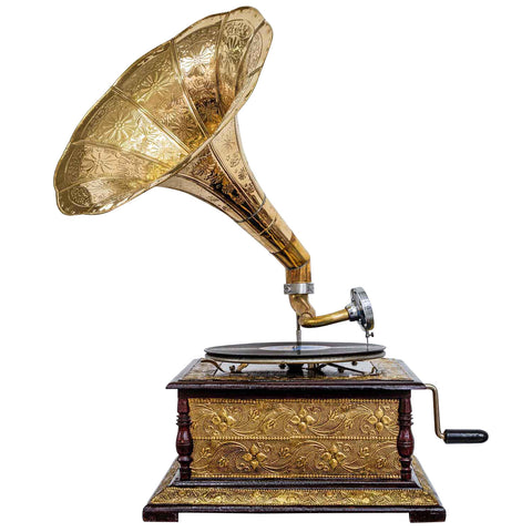 Heritage II-Etched Golden Horn Gramophone-LPVC103-The Best Handy Crafts
