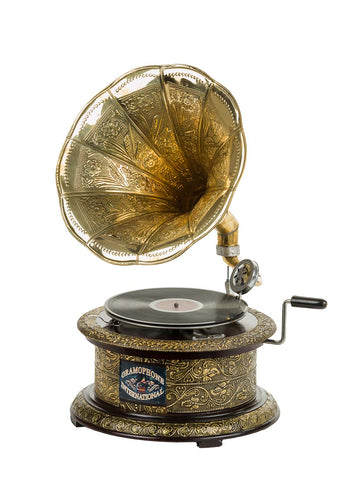 Heritage II-Circular Etched Golden Gramophone-LPVC102-The Best Handy Crafts