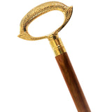 Etched Ring Handle Walking Stick