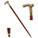 Natural Wood Walking Stick With Etched Handles-The Best Handy Crafts