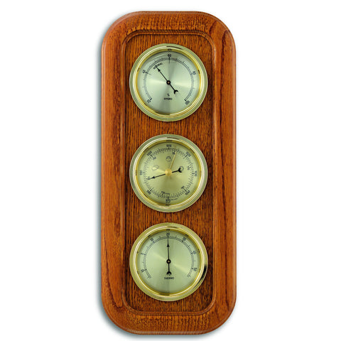 TFA Domatic Weather Station in Solid Oak Frame 20.1019.01