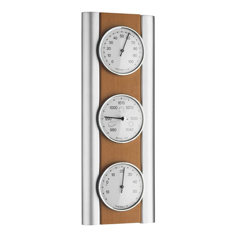 TFA Domatic Weather Station in Natural Beech Silver Colour 20.1053.17