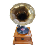 Timber Base With Bronzed Horn Gramophone-The Best Handy Crafts