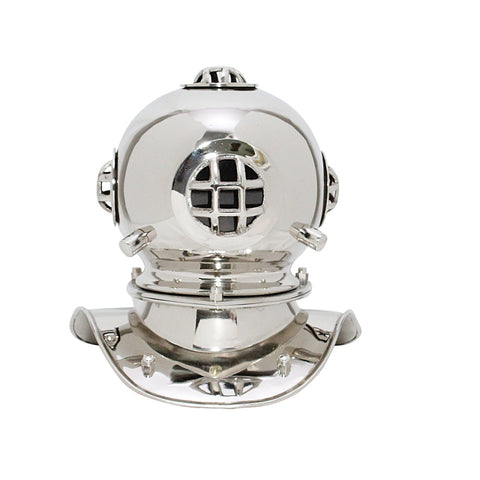Treasure Imports Small Deep Sea Diving Helmet in Chrome TI-N201S