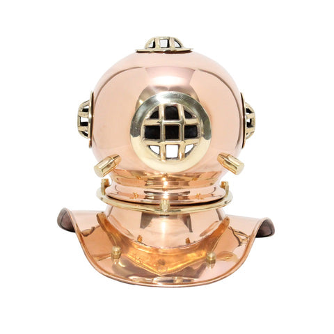 Treasure Imports Small Deep Sea Diving Helmet in Copper TI-N201G
