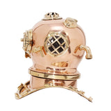 Medium Deep Sea Diving Helmet In Copper