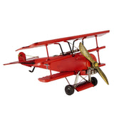 Boyle-Red Baron Triplane - Tin Airplane Model-30125-The Best Handy Crafts