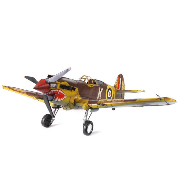 Boyle-1941 Curtis Hawk Large Tin Airplane Model-30365-The Best Handy Crafts