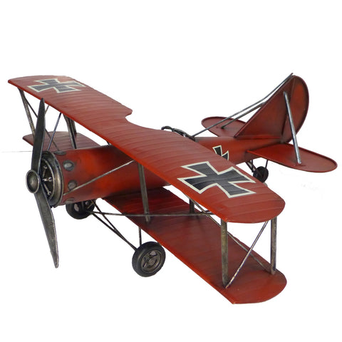 Red Baron Biplane - Tin Airplane Model-The Best Handy Crafts
