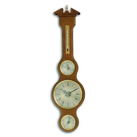 TFA Banjo Weather Station With Clock in Oak Shade 45.3004.03