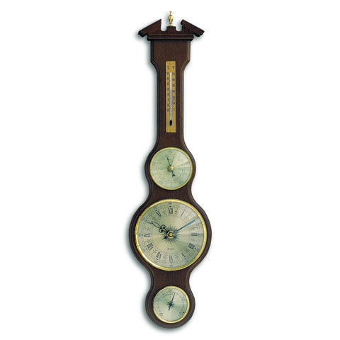 TFA Banjo Weather Station With Clock in Walnut Shade 45.3004.03