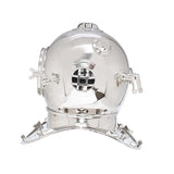 Large Deep Sea Diving Helmet In Chrome