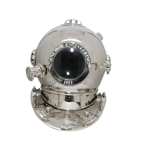 Treasure Imports Large Deep Sea Diving Helmet In Chrome TI-N203S
