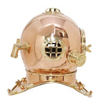 Large Deep Sea Diving Helmet In Copper