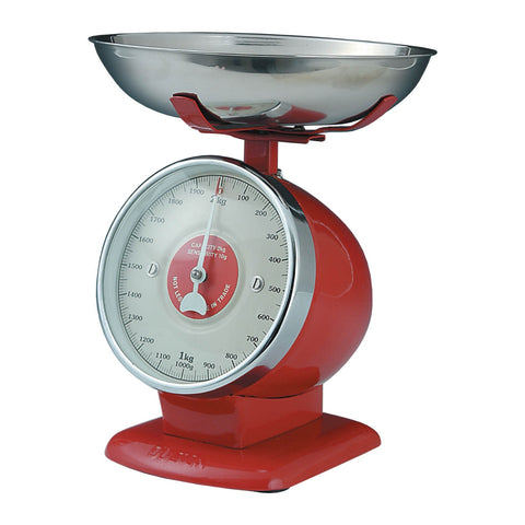 Dulton-Dulton Stream Line Kitchen Scales - Red-60092RED-The Best Handy Crafts