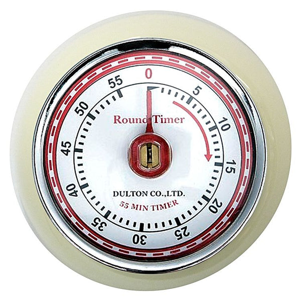 Dulton-Dulton Kitchen Timer - Ivory-60189IVO-The Best Handy Crafts