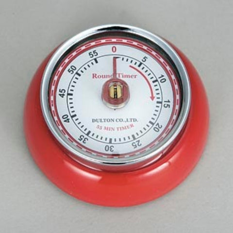 Dulton-Dulton Kitchen Timer - Red-60189RED-The Best Handy Crafts