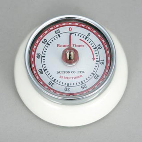 Dulton-Dulton Kitchen Timer - White-60189WHI-The Best Handy Crafts