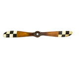 Best Handy Crafts - AM Wooden Propeller With Checkered Tips AP147