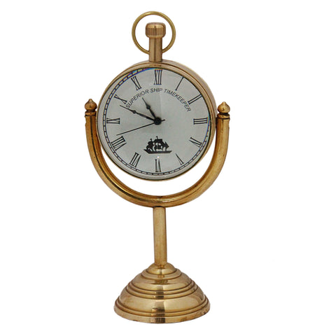 Small Brass Table Clock