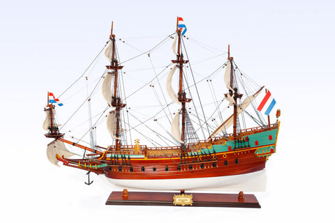 Batavia Painted Ship Model
