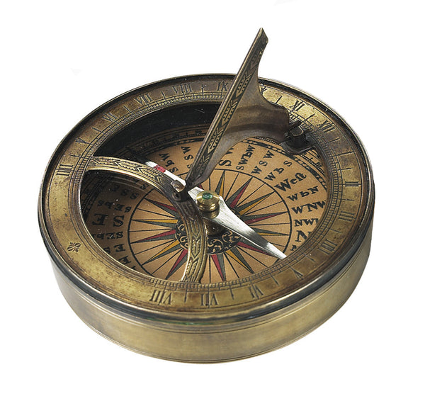 Authentic Models-18th Century Sundial And Compass-CO012A-The Best Handy Crafts