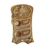 Double Button Art Nouveau Door Bell With Sunrise Motif-The Best Handy Crafts