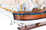 HMB Endeavour Painted Ship Model Large