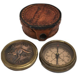 Australian Penny 1930s Themed Compass in Pouch-The Best Handy Crafts