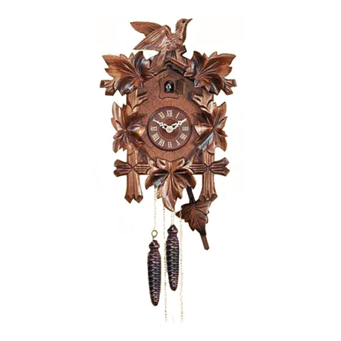 Black Forest Cuckoo Clock with Leaves & Bird-8 Days K532/8/35