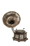 Octagonal Etched Silver Horn Gramophone-The Best Handy Crafts