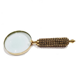 Beaded Brass Magnifying Glass