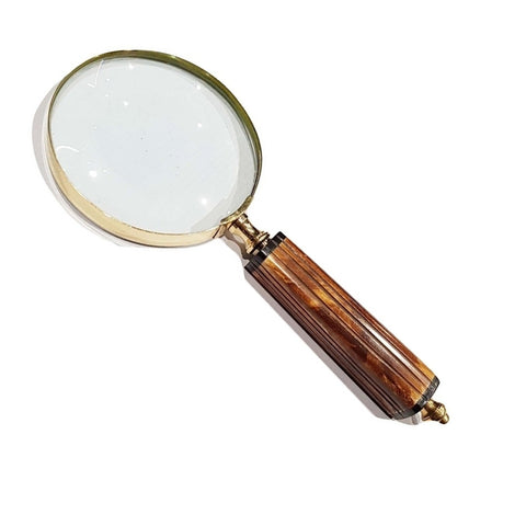 Wooden Handle Magnifying Glass With Straight Lines TI-MG05