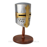 Vintage Nautical-Miniature Medieval Tournament Helmet-MMH105-The Best Handy Crafts