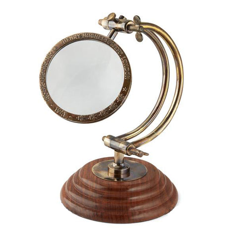 Henry Hughes Magnifying Glass With Curved Arm